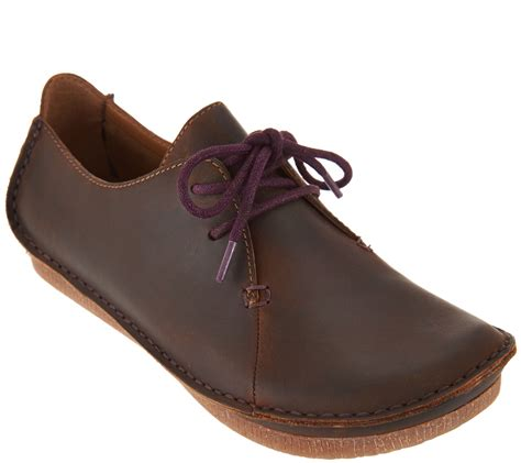 Clarks Artisan Leather Lace-up Shoes - Janey Mae - Page 1