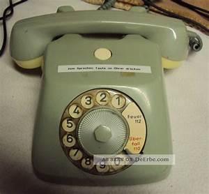 Altes Drehscheibentelefon Telefon Schnurgebunden Old