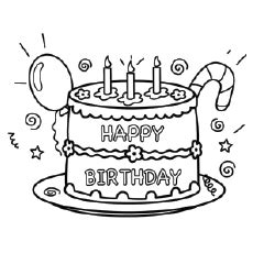 happy birthday coloring pages  printables