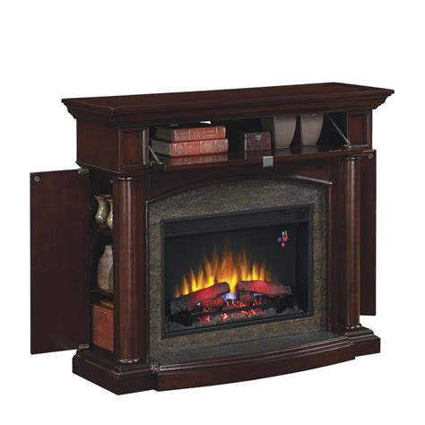 portable fireplace home depot chimney free moraine 48 in electric fireplace in roasted