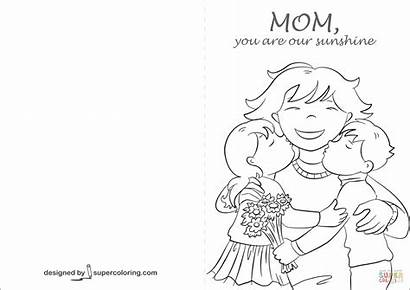 Coloring Mom Sunshine Card Pages Printable Mother