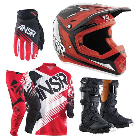 infant motocross answer mx syncron red youth dirt bike protection pack kids