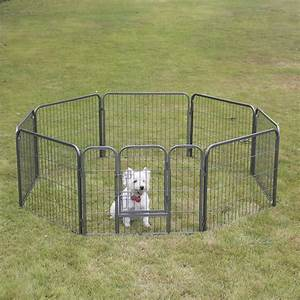 24quot 32quot 40quot 48quot 8 panel heavy duty pet playpen dog for Dog fence enclosure