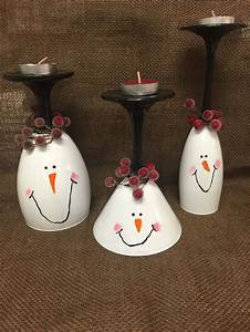 25 gorgeous snowman wine glass candle holders With what kind of paint to use on kitchen cabinets for how to make wine bottle candle holder