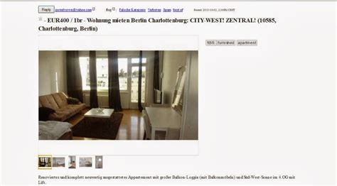 Wohnung Mieten Zillestr Berlin by Wohnungsbetrug 11 M 228 Rz 2013