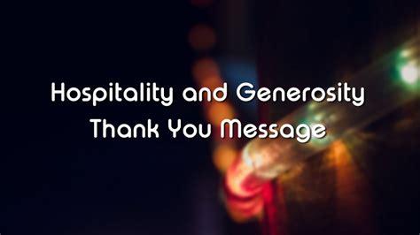 messages  hospitality  generosity wishesmsg