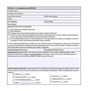 Medical Leave Request Form Template