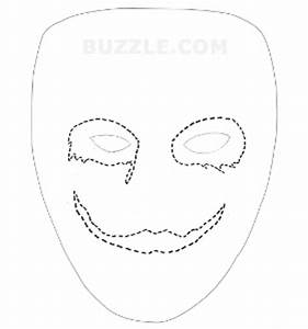 5 best images of printable joker mask joker printable for Joker mask template