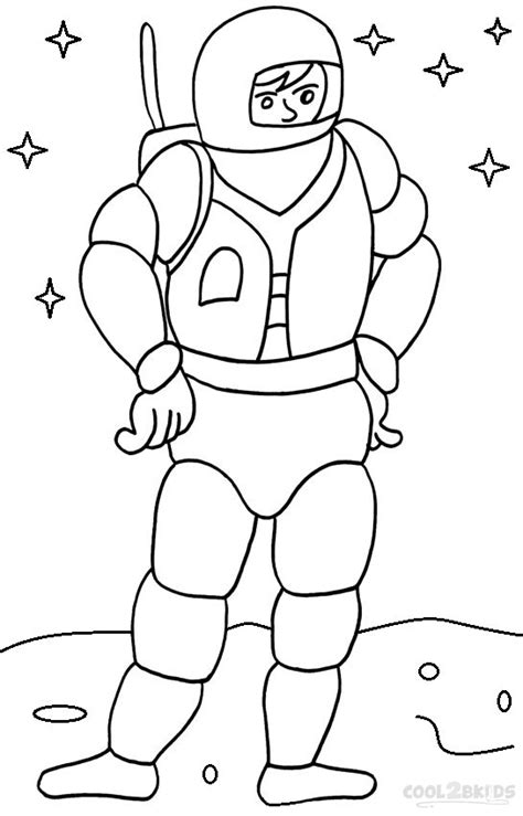 printable astronaut coloring pages  kids coolbkids