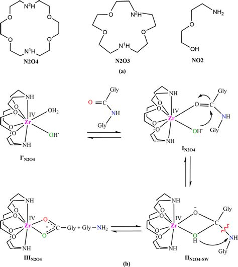 (a) The structures of ligand environments. (b ...