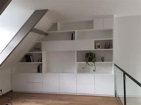 amenagement chambre mezzanine création d une bibliothèque sur mesure en mezzanine