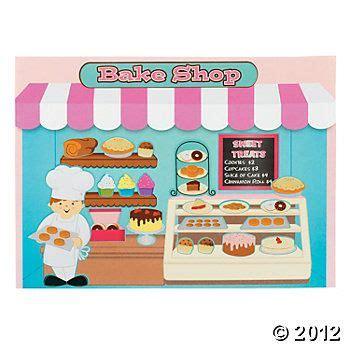 sweet bake shop   sticker scenes oriental trading
