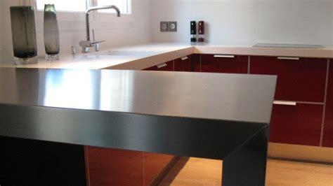 barre inox cuisine cuisine bar moderne en inox