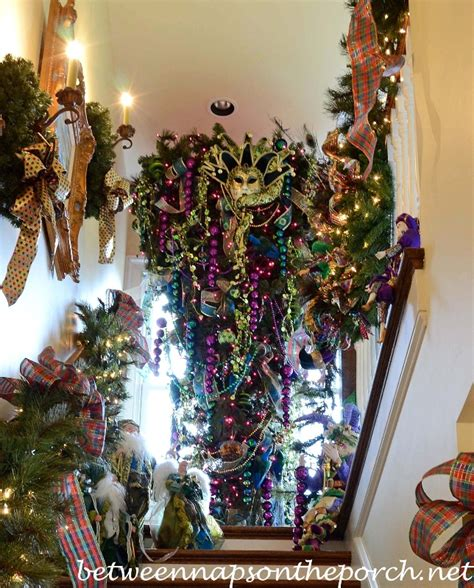 Mardi Gras Wooden Door Decorations by Tour A Home Decorated For