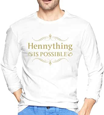 Amazon.com: Mens Hennything is Possible Cotton Long Sleeve