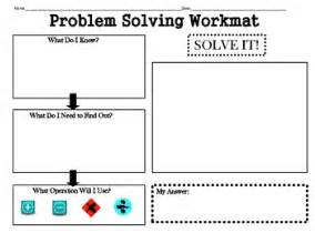 problem solving 2nd grade problem solving workmat worksheet graphic organizer by mrs