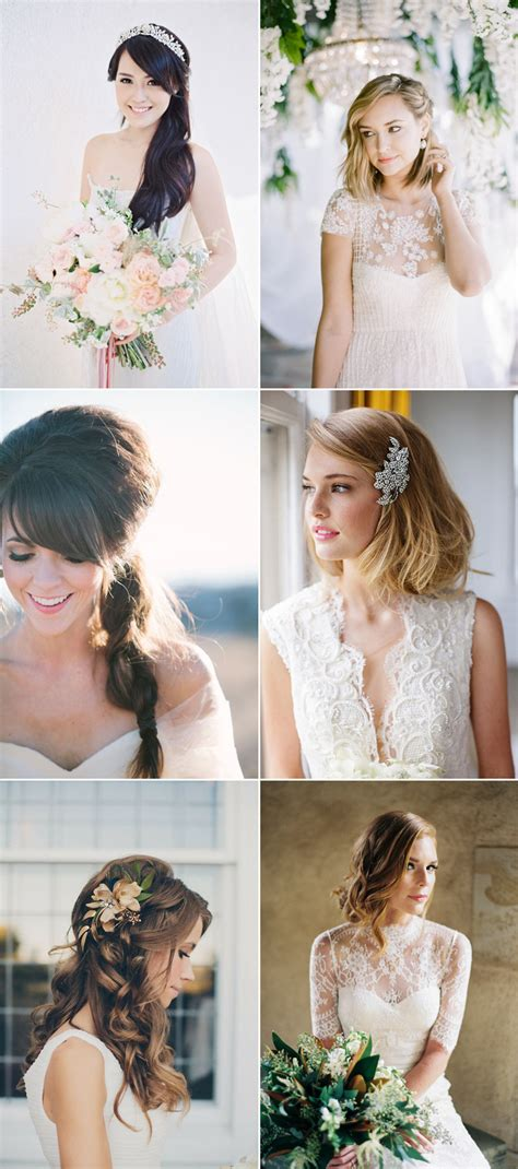 how to find the right wedding day hairstyle the most flattering hairstyles for your shape