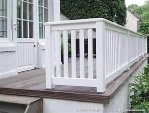 Geländer Aus Holz : gel nder f r terrasse und balkon hartholz wei lackiert f r den garten pinterest ~ Buech-reservation.com Haus und Dekorationen