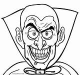 Vampire Coloring Pages Face Printable Cool2bkids sketch template