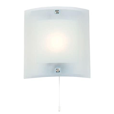 endon lighting bathroom glass wall light bracket pull