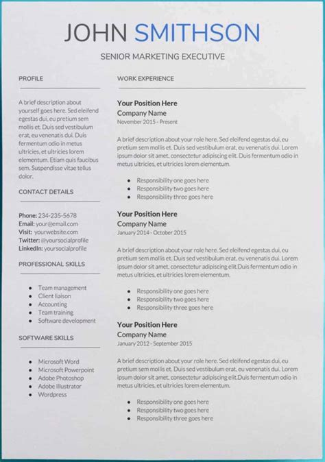 Resume Template Qut by 30 Docs Resume Templates Downloadable Pdfs