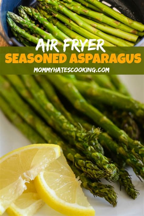 asparagus air fryer seasoned recipe dinner cooking recipes dish tasty cook side minutes