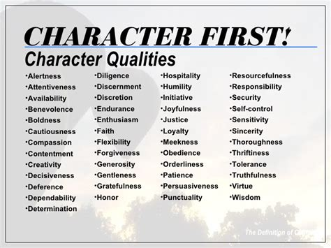 the foundation character based leadership