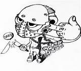 Jason Voorhees Fan Mask Template Coloring Deviantart Sketch sketch template
