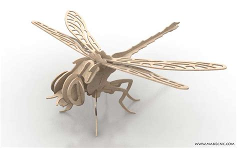 dynamic dragonfly insects makecnc