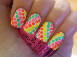 Holy Manicures Neon Dot Nails