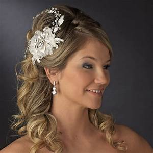 Lizzie Flower Bridal Comb Elegant Bridal Hair Accessories