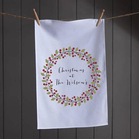 personalised christmas tea towel  koko blossom