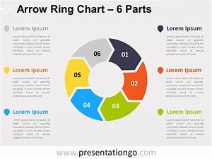 6-parts Arrow Ring Powerpoint Chart
