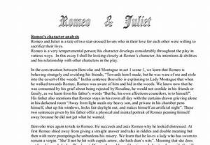 Romeo Character Analysis Essay Research Papers Of Romeo And Juliet  Romeo And Juliet Character Analysis Essay Example Business Report Writing Helper also Business Plan Writers Oregon  Essays About Health Care