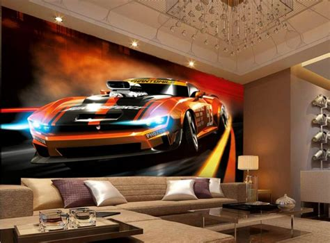 design  mural wallpaper painting style dynamic