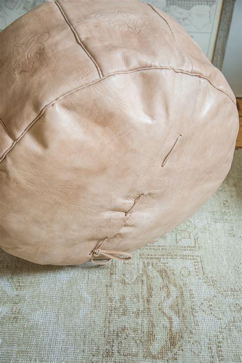 Pouf Ottoman Insert by Antique Revival Leather Ottoman Moroccan Poufs