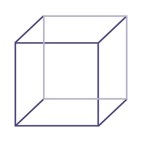 Image Cube Necker Cube The Illusions Index