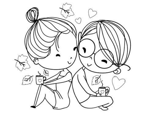 Dibujo de Dos jóvenes enamorados para Colorear Dibujos net