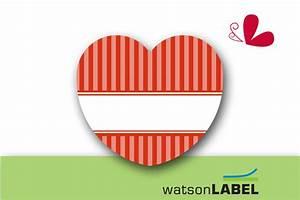 Aufkleber Zum Beschriften : etiketten 24 herz aufkleber rot zum selbst beschriften ein designerst ck von watsonlabel bei ~ Orissabook.com Haus und Dekorationen