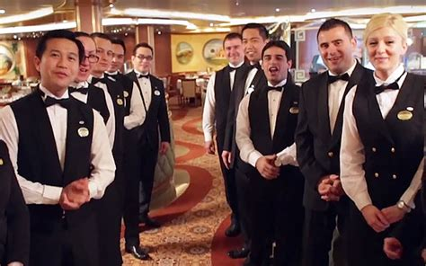 Staff on a cruise ship