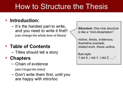 what is a mini thesis