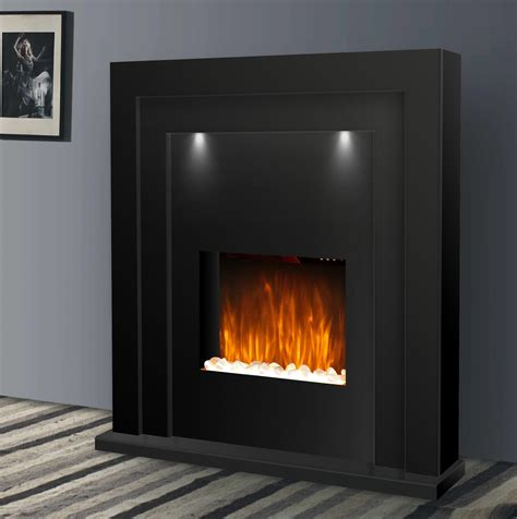 black gloss fireplace large designer free standing black gloss electric flicker