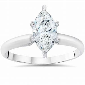 1ct solitaire marquise enhanced diamond engagement ring With marquise diamond wedding ring