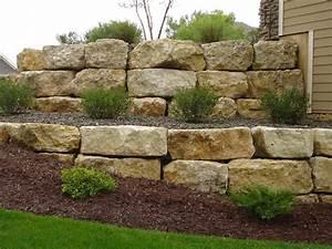 Nice Landscaping Boulders #4 Limestone Boulder Retaining ...