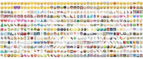 all iphone emojis using emojis in ad text boosts ctr wordstream