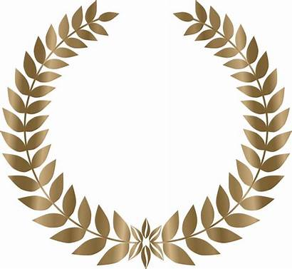 Wreath Laurel Svg Bronze Openclipart Log