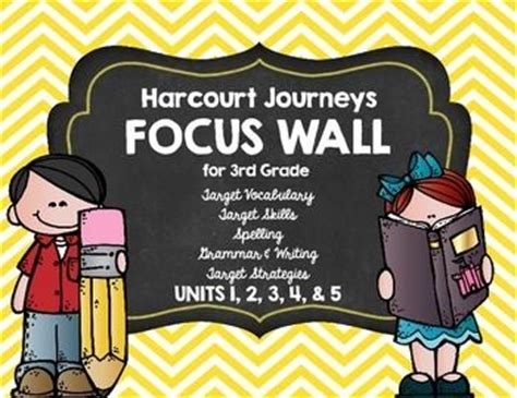 Harcourt Journey 3rd Grade Focus Wall (units 1, 2, 3, 4, & 5)  Thirdgradetroopcom Pinterest