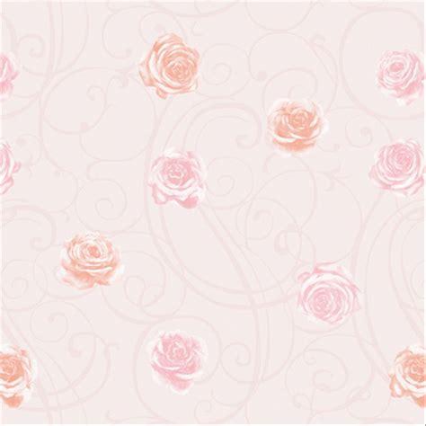 jual wallpaper dinding eropa modern bunga warna soft peach