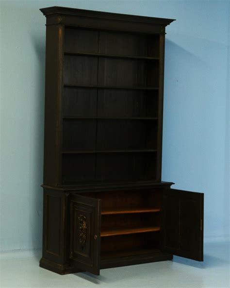 Antique Black Bookcase by Antique Black Painted Bookcase Denmark Circa 1890 At 1stdibs