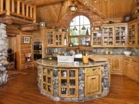 build a log home and make a kitchen home design garden architecture magazine - Home Goods Kitchen Island